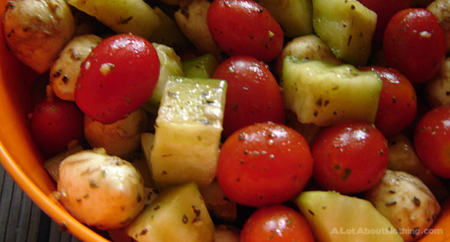 Cucumber Tomato Salad with Bocconcini