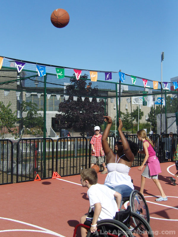 Wheelchair Basketball Olympic Exhibit at The EX