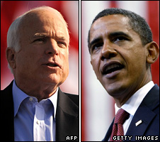 McCain vs. Obama (image from BBC.com)