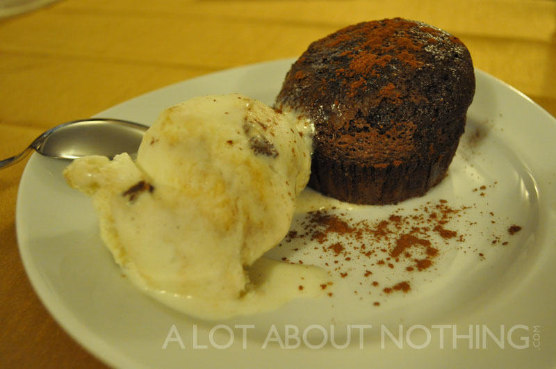 Chocolate Lava Cake with Ice Cream
