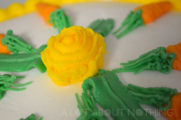 The Wilton Rose. I think my icing was a tad too stiff, as to why it's cracking.