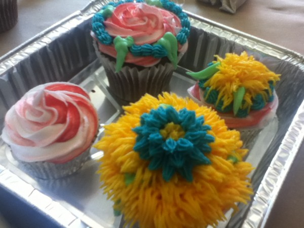 These are some of the red velvet cupcakes I decorated in class 3. It was fun working with all those tips!