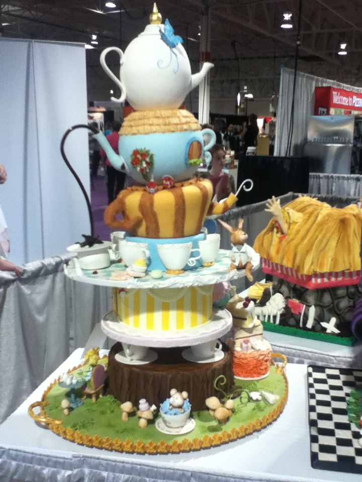 One of several of the cakes for the Alice in Wonderland Theme Competition by professional bakers.