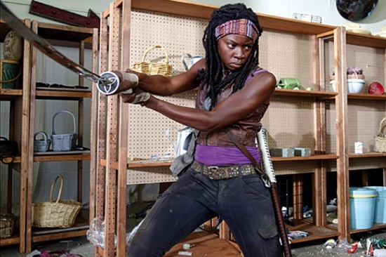 Michonne doing what she does best (photo from entertainmentfuse.com)