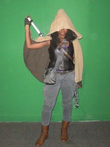 The whole Michonne getup. I even tried to get a similar grey satchel!