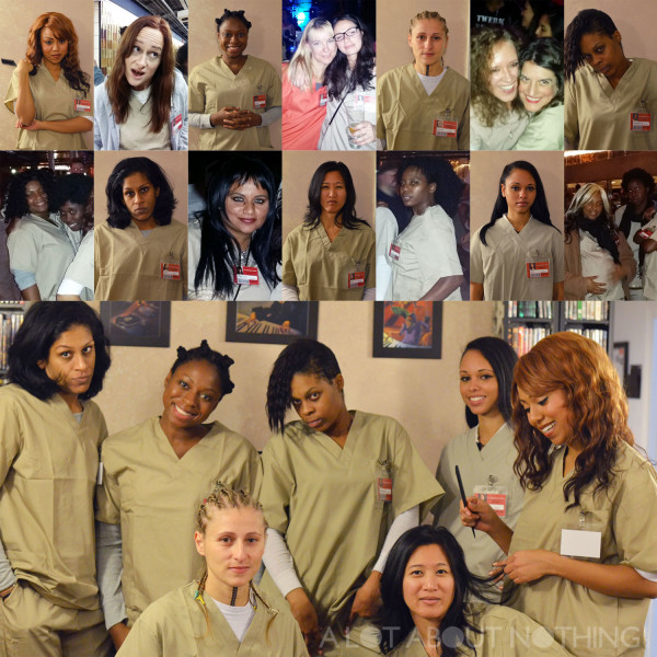 17 of my good friends donning prison garb on Halloween as characters from the hit Netflix show Orange is the New Black.