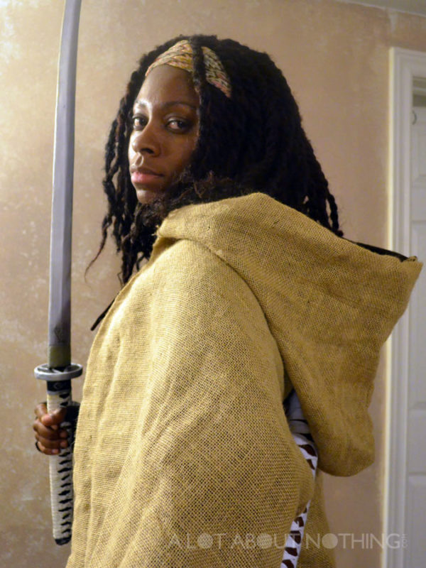 Me in my Michonne cosplay