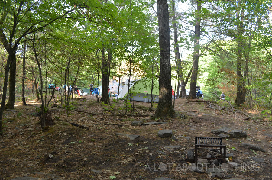 Our group's two campsites